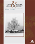 January Issue of Arboriculture & Urban Forestry  Now Online