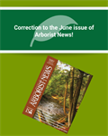 Correction to the June Issue of Arborist News