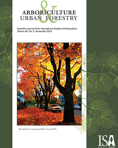 November Issue of Arboriculture & Urban Forestry Now Online