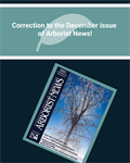 Correction to the December Issue of Arborist News