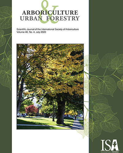 July Issue of Arboriculture & Urban Forestry Now Online!