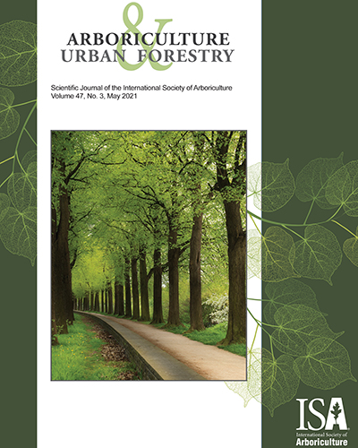 May 2021 Issue of Arboriculture & Urban Forestry Now Online