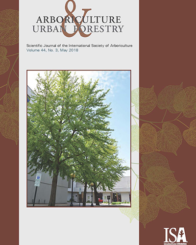 May Issue of Arboriculture and Urban Forestry Now Online
