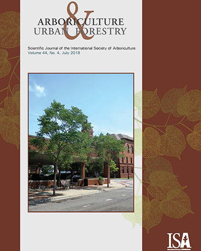 July Issue of Arboriculture & Urban Forestry